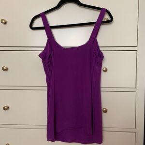 Banana Republic Tops - 100% silk purple tank top with ruffles